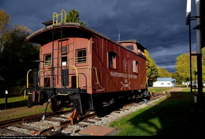 Delaware and Hudson Railway-Built Caboose on Napier Junction