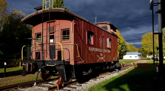 Delaware and Hudson Railway-Built Caboose on Napier Junction