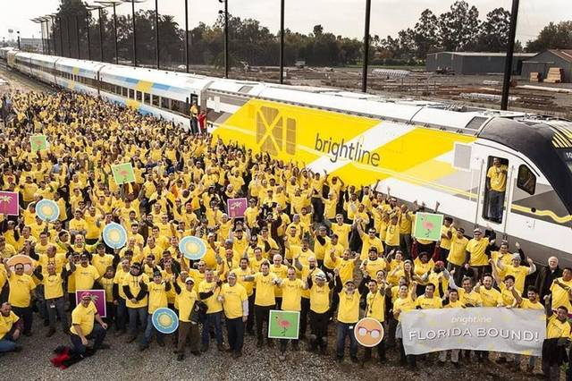 First finished Brightline train, now steaming to South Florida