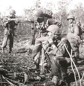 On Noemfoor Island, pointing to the enemy withdrawal.