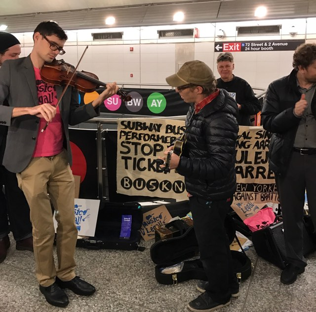 Buskers are Protesting Crackdown from NYPD on 2nd Avenue Subway