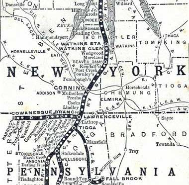 New York Central's Fall Brook Subdivision