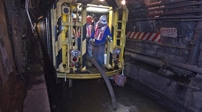 New York City Subway Tunnels Under Water