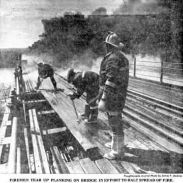 Poughkeepsie Bridge After The Fire