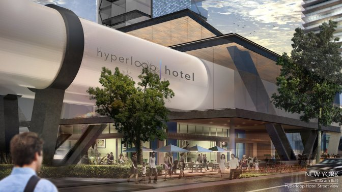 This $130 million 'Hyperloop Hotel' would allow people to travel between cities in luxury rooms