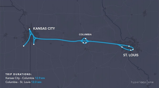 Coalition forms to develop Kansas City-St. Louis Hyperloop route