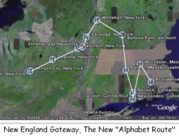 """New England Gateway, The New """"Alphabet Route"""""""