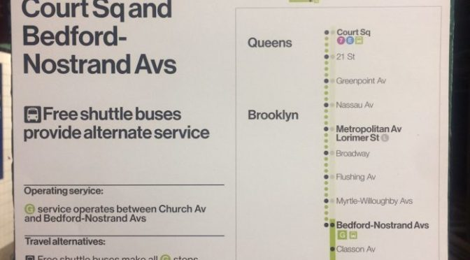 """MTA Rolls Out Redesigned """"Planned Work"""" Posters"""