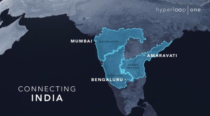 THREE ADJOINING INDIAN STATES HAVE NOW SIGNED ON TO STUDY HIGH-SPEED ROUTES WITH HYPERLOOP ONE