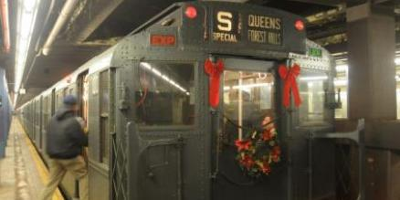 New York vintage subway trains return for holiday season