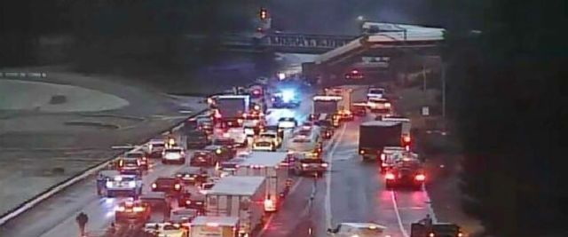 Amtrak train derails in Washington state, leaving car dangling over highway
