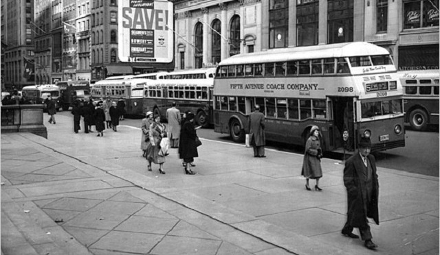 Vintage Photos: MTA Double-Decker Buses in NYC from 1930s to 70s