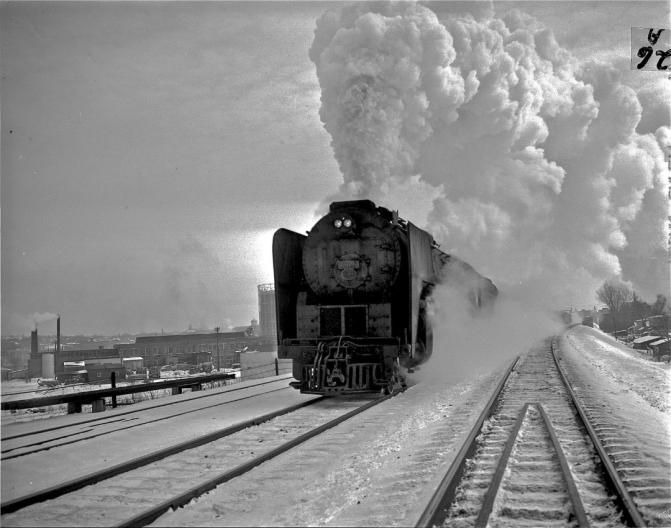 New York Central Rolls Through Syracuse in 1950