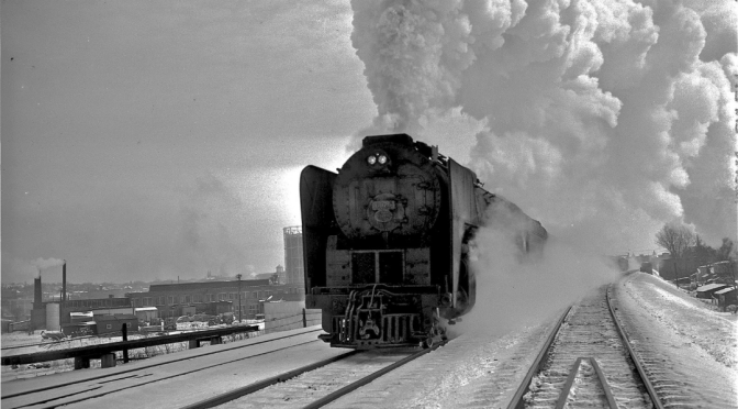 New York Central Rolls Through Syracuse in 1950